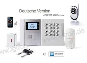 IP Alarmanlage LGtron GSM Funk-Alarmanlage (Deutschsprachige Menüführung, Sprachausgabe und Bedienungsanleitung)