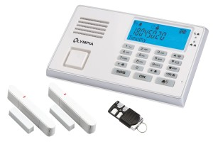 Alarmanlagen Neuerscheinung OLYMPIA Drahtloses GSM-Alarmanlagen-Set mit Notruf und Freisprechfunktion, weiß, Modell Protect